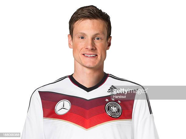 In this handout image provided by the DFB Marcell Jansen poses during the German National Team presentation on November 15 2013 in Germany