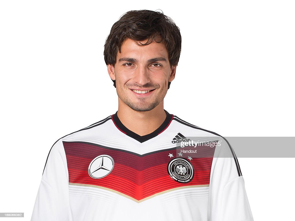 In this handout image provided by the DFB, Mats Hummels poses during the German National Team presentation on November 15, 2013 in Germany.