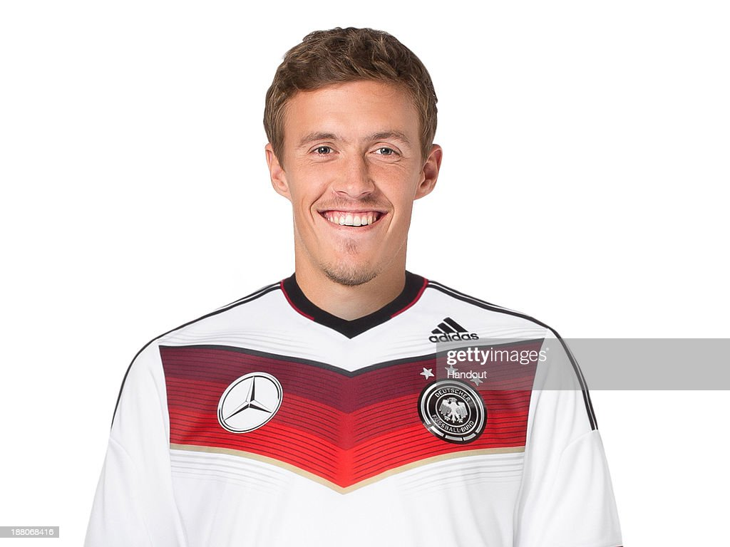 In this handout image provided by the DFB, Max Kruse poses during the German National Team presentation on November 15, 2013 in Germany.