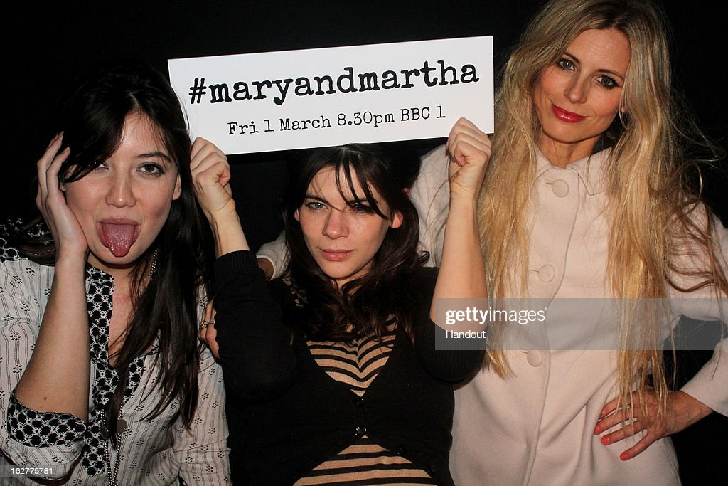 In this handout image provided by the Electric Cinema, <a gi-track='captionPersonalityLinkClicked' href=/galleries/search?phrase=Daisy+Lowe&family=editorial&specificpeople=787647 ng-click='$event.stopPropagation()'>Daisy Lowe</a>, Martha Freud and <a gi-track='captionPersonalityLinkClicked' href=/galleries/search?phrase=Laura+Bailey+-+Model&family=editorial&specificpeople=202040 ng-click='$event.stopPropagation()'>Laura Bailey</a> attend the private screening of Mary & Martha, hosted by Emma Freud at the Electric Cinema on February 26, 2013 in London, England. The film, by Richard Curtis, which airs on BBC1 on Friday 1st March at 8.30pm stars Hilary Swank as Mary and Brenda Blethyn as Martha, an American and an Englishwoman who have little in common apart from the tragedy of losing a son to malaria, that unexpectedly brings them together.