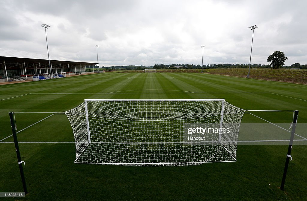 In this handout image provided by The FA, A general view of the Umbro football training pitch during a media event at the Football Association's new National Football Centre, St George's Park on July 10, 2012 in Burton, England.