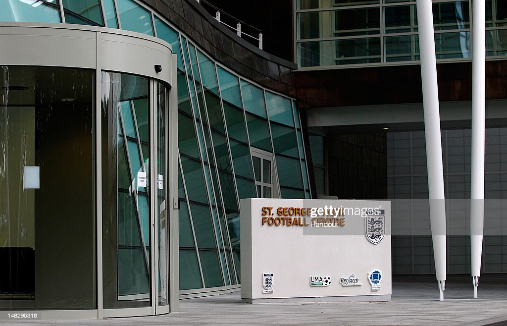 In this handout image provided by The FA, A sign to the St George's Park Football Centre is seen outside the main reception during a media event at the Football Association's new National Football Centre, St George's Park on July 10, 2012 in Burton, England.