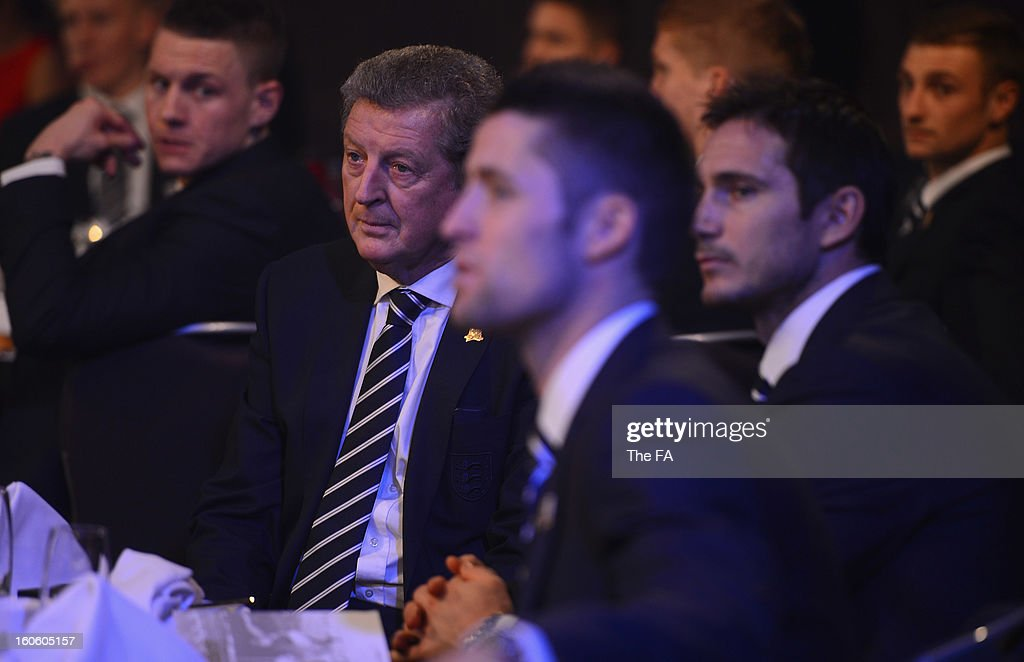 In this handout image provided by The FA, England manager Roy Hodgson attends the FA England Awards 2013 at St. George's Park on February 3, 2013 in Burton-upon-Trent, England.