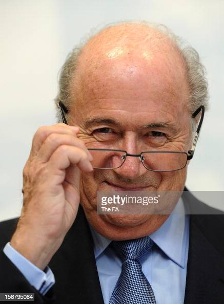 OVEMBER 21 In this handout image provided by The FA FIFA President Joseph S Blatter looks on during a visit to St Georges Park on November 21 2012 in...