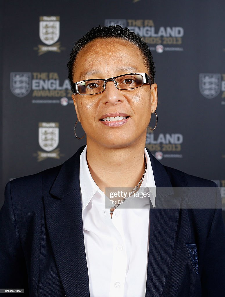 In this handout image provided by The FA, Hope Powell, England Women's manager poses during the FA England Awards 2013 at St. George's Park on February 3, 2013 in Burton-upon-Trent, England.