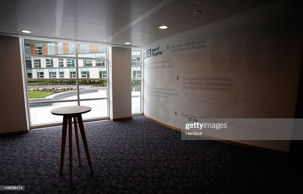 In this handout image provided by The FA, The laws of football are displayed in a hallway of the Hampton by Hilton hotel during a media event at the Football Association's new National Football Centre, St George's Park on July 10, 2012 in Burton, England.