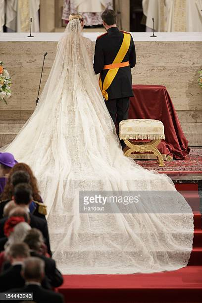 In this handout image provided by the GrandDucal Court of Luxembourg Prince Guillaume Of Luxembourg and Countess Stephanie de Lannoy during their...
