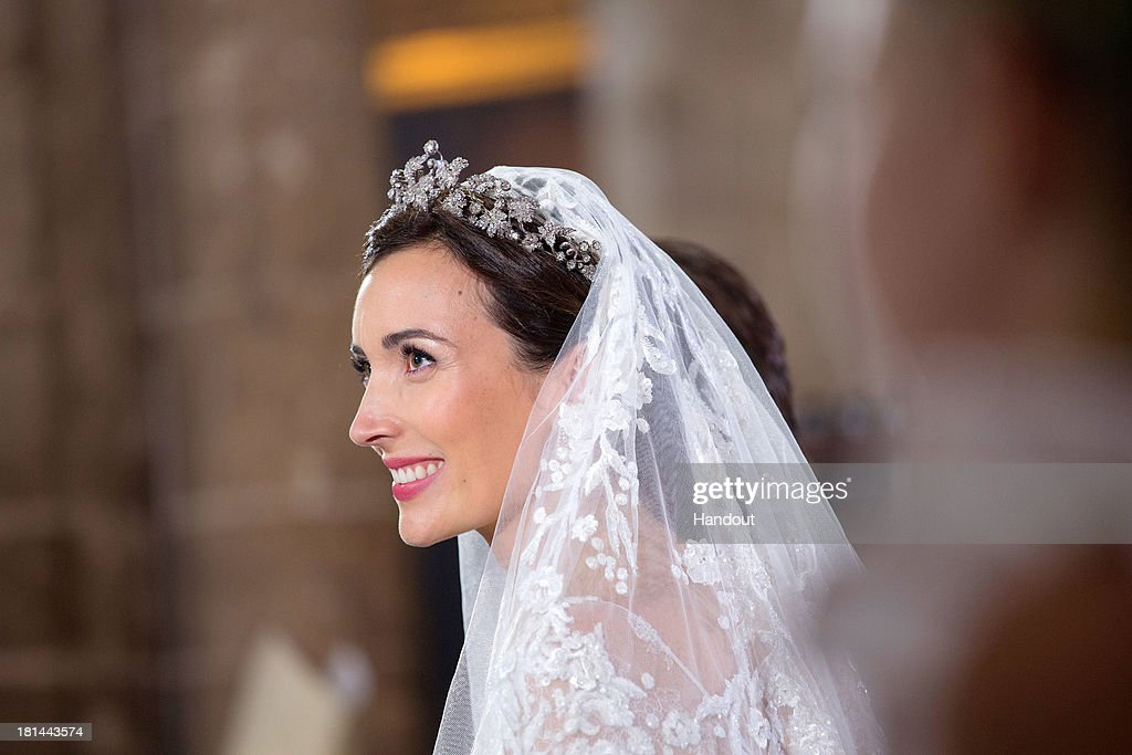 In this handout image provided by the Grand-Ducal Court of Luxembourg, Princess Claire Of Luxembourg is seen during her wedding ceremony to Prince Felix Of Luxembourg at the Basilique Sainte Marie-Madeleine on September 21, 2013 in Saint-Maximin-La-Sainte-Baume, France. ©Grand-Ducal Court/Eric Chenal/All rights reserved.