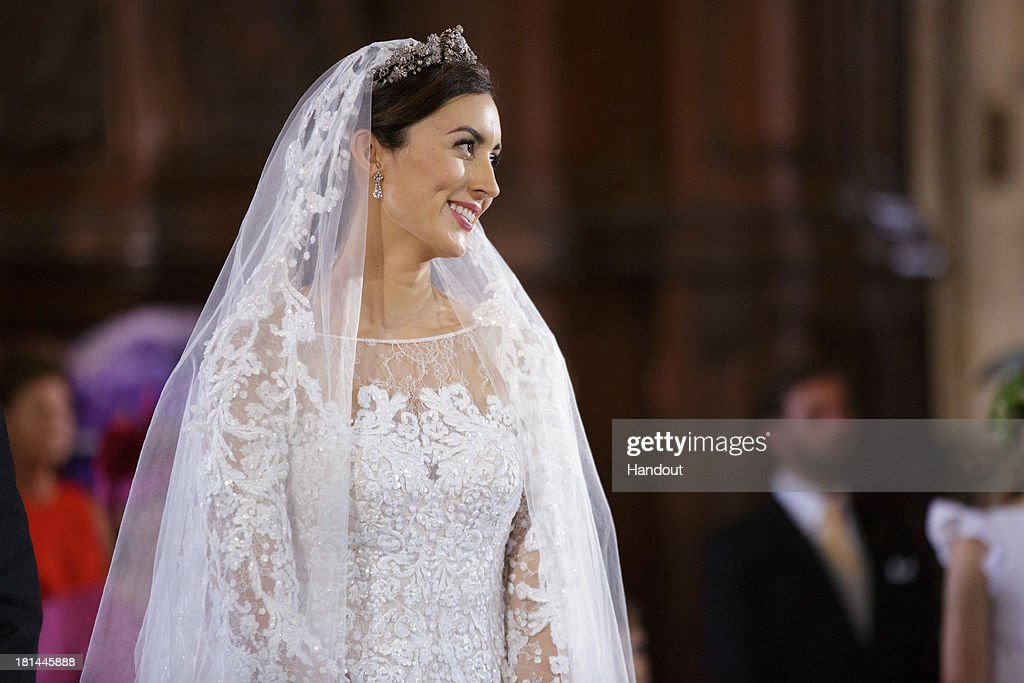 In this handout image provided by the Grand-Ducal Court of Luxembourg, Princess Claire Of Luxembourg is seen during her wedding ceremony to Prince Felix Of Luxembourg at the Basilique Sainte Marie-Madeleine on September 21, 2013 in Saint-Maximin-La-Sainte-Baume, France. ©Grand-Ducal Court/Guy Wolff/All rights reserved.