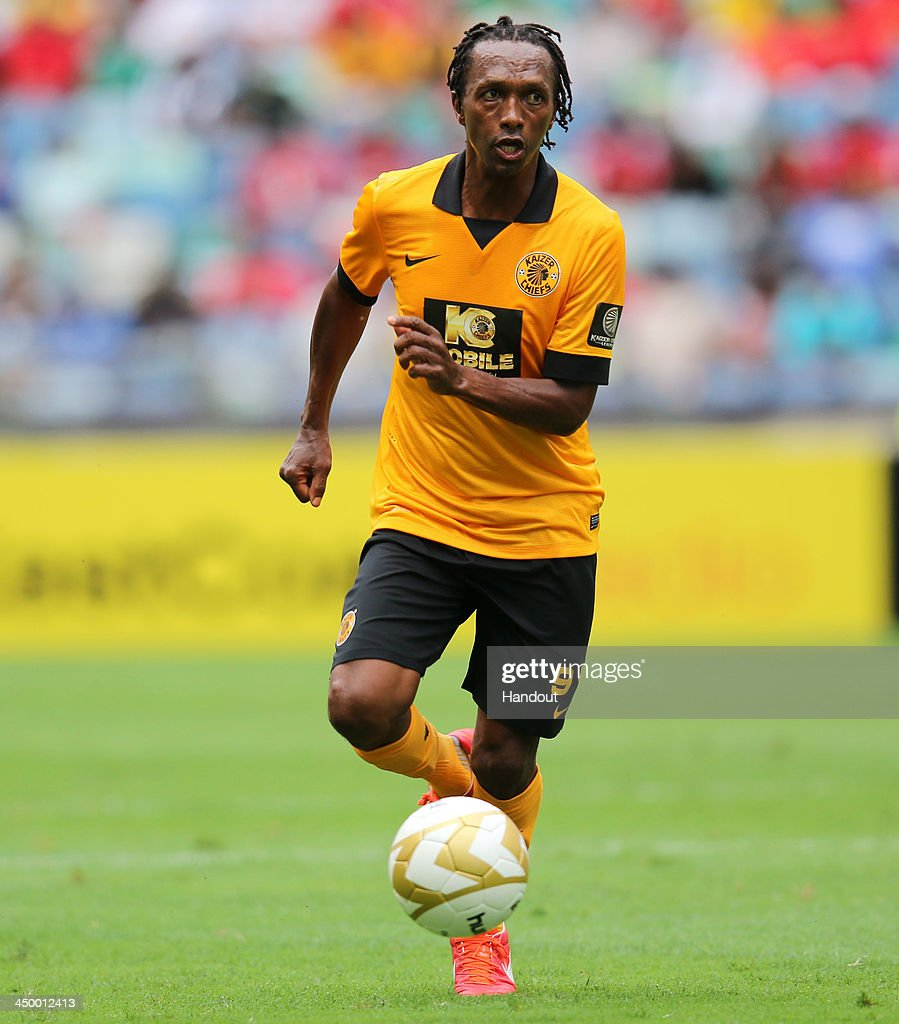 In this handout image provided by the ITM Group, Jon Mosheu during the Legends match between Liverpool FC Legends and Kaizer Chiefs Legends at Moses Mabhida Stadium on November 16, 2013 in Durban, South Africa.