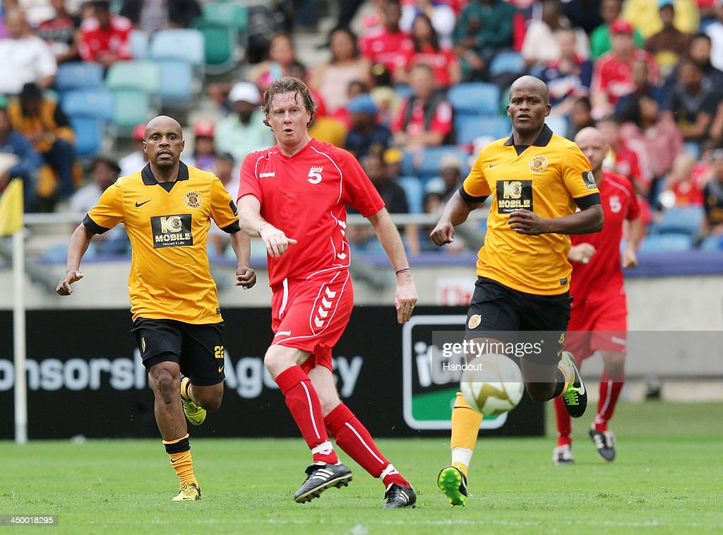 In this handout image provided by the ITM Group, Steve McManaman during the Legends match between Liverpool FC Legends and Kaizer Chiefs Legends at Moses Mabhida Stadium on November 16, 2013 in Durban, South Africa.