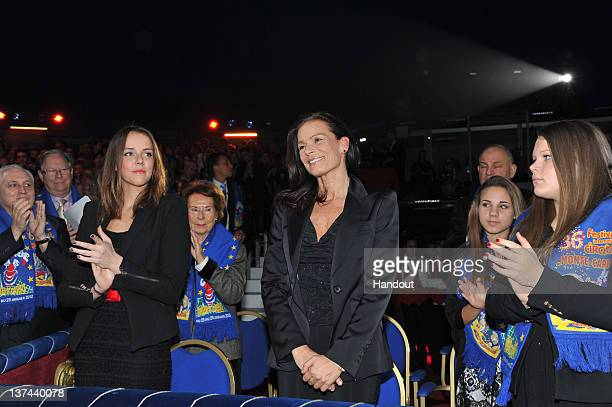 In this handout image provided by the Monaco Centre de Presse Pauline Ducruet Princess Stephanie of Monaco and Camille Gottlieb attend the 36th...