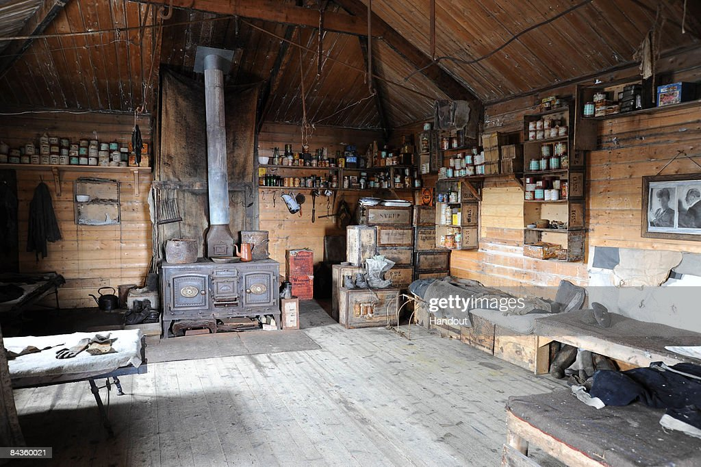 In this handout image provided by the Monaco Palace, a general view of the wooden hut built by Earnest Shackleton in 1907, visited by Prince Albert Of Monaco, now kept by Dr David G Ainley in Cape Royds on January 15, 2009 in Antartica.