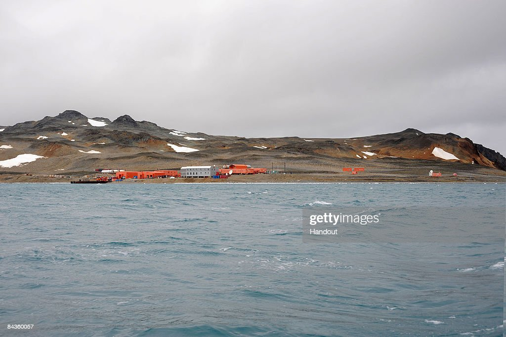 In this handout image provided by the Monaco Palace, a general view of the South Korean base of King Sejong taken during a visit to the region by Prince Albert II of Monaco on January 14, 2009 in Antartica.