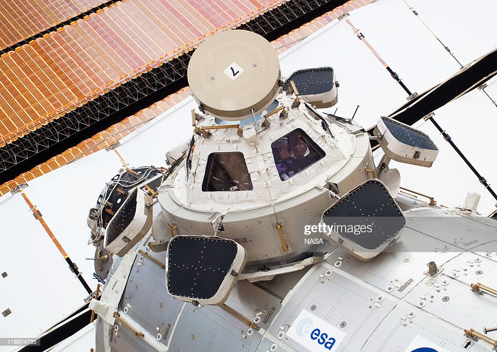 In this handout image provided by the National Aeronautics and Space Administration (NASA), the Cupola, backdropped against a solar array panel, on the International Space Station July 12, 2011 in space. This is the 160th spacewalk devoted to station assembly and maintenance since construction began in 1998. Space shuttle Atlantis has embarked on a 12-day mission to the International Space Station where it will deliver the Raffaello multi-purpose logistics module packed with supplies and spare parts. This will be the final launch of the space shuttle program, which began on April 12, 1981 with the launch of Colombia.