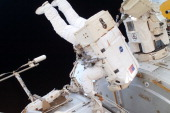 In this handout image provided by the National Aeronautics and Space Administration NASA astronaut Ronald Garan works in the International Space...