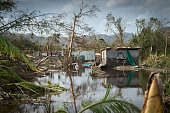In this handout image provided by the New Zealand Defence Force scenes of devastation in the area around Port Vila on March 16 2015 in Port Vila...