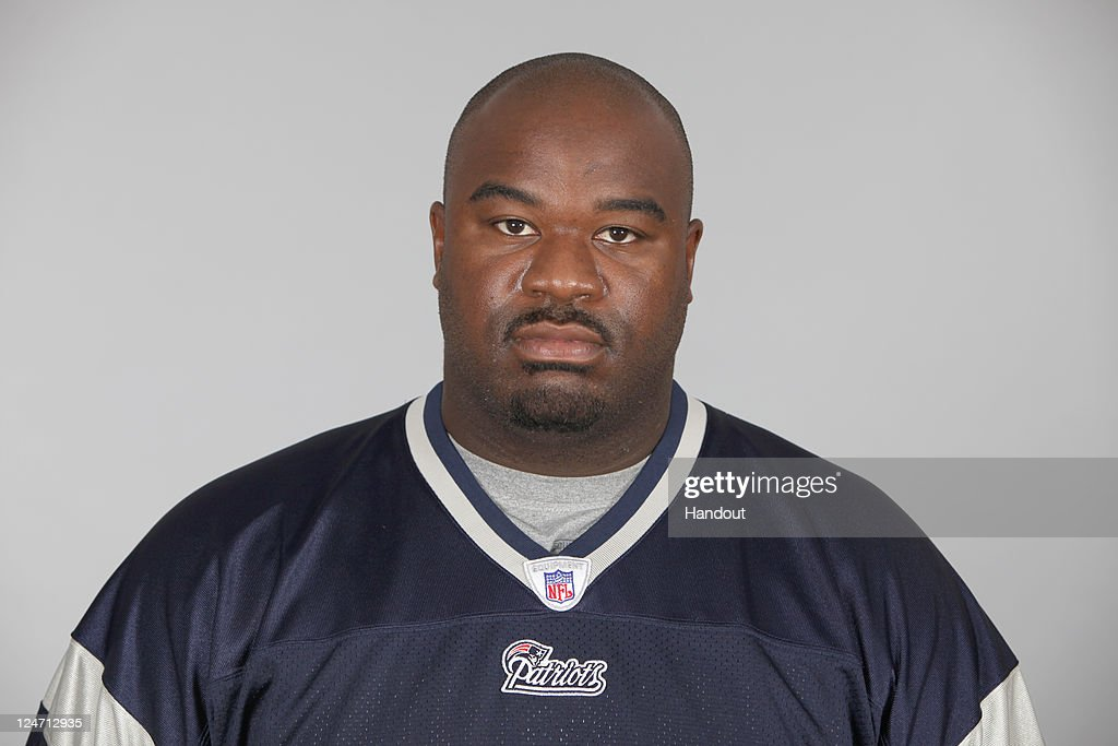 In this handout image provided by the NFL, Albert Haynesworth of the New England Patriots poses for his NFL headshot circa 2011 in Foxborough, Massachusetts.