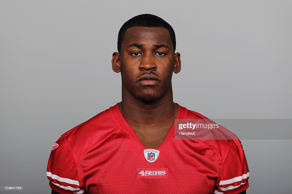In this handout image provided by the NFL, <a gi-track='captionPersonalityLinkClicked' href=/galleries/search?phrase=Aldon+Smith&family=editorial&specificpeople=6522981 ng-click='$event.stopPropagation()'>Aldon Smith</a> of the San Francisco 49ers poses for his NFL headshot circa 2011 in San Francisco, California.
