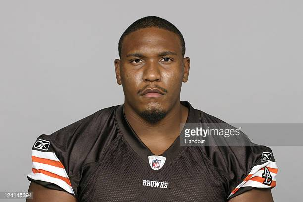 In this handout image provided by the NFL Andre Caroll of the Cleveland Browns poses for his NFL headshot circa 2011 in Berea Ohio