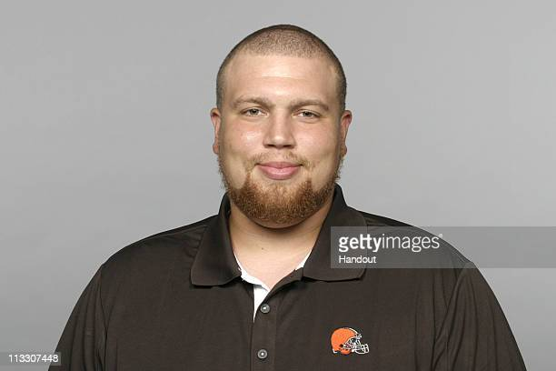 In this handout image provided by the NFL Andy Dickerson of the Cleveland Browns poses for his 2010 NFL headshot circa 2010 in Berea Ohio