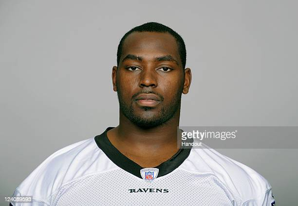 In this handout image provided by the NFL Arthur Jones of the Baltimore Ravens poses for his NFL headshot circa 2011 in BaltimoreMaryland