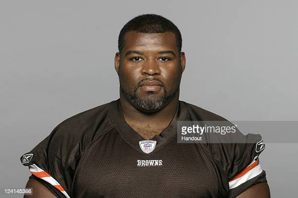 In this handout image provided by the NFL Billy Yates of the Cleveland Browns poses for his NFL headshot circa 2011 in Berea Ohio