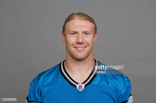 In this handout image provided by the NFL Bobby Carpenter of the Detroit Lions poses for his NFL headshot circa 2011 in Detroit Michigan