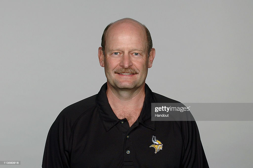 In this handout image provided by the NFL, Brad Childress poses for his 2010 NFL headshot circa 2010 in Eden Prairie, Minnesota.
