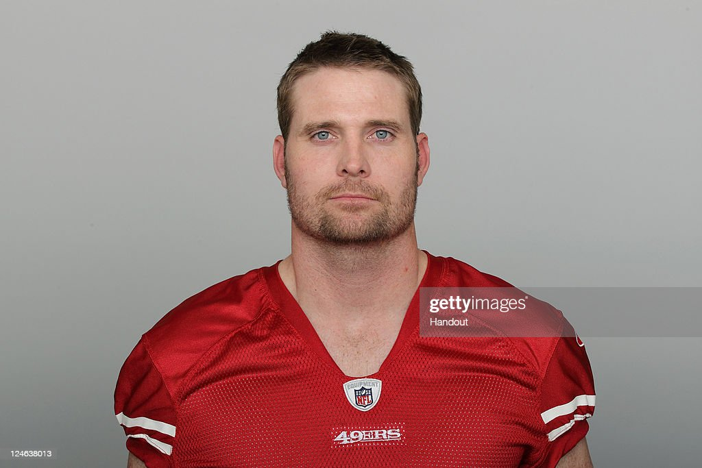 In this handout image provided by the NFL Brian Jennings of the San Francisco 49ers poses for his NFL headshot circa 2011 in San Francisco California