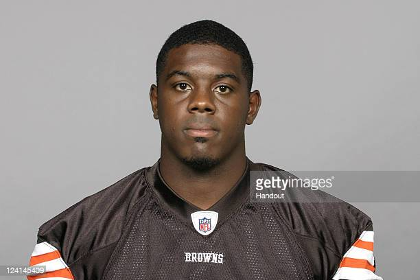In this handout image provided by the NFL Carl Gettis of the Cleveland Browns poses for his NFL headshot circa 2011 in Berea Ohio