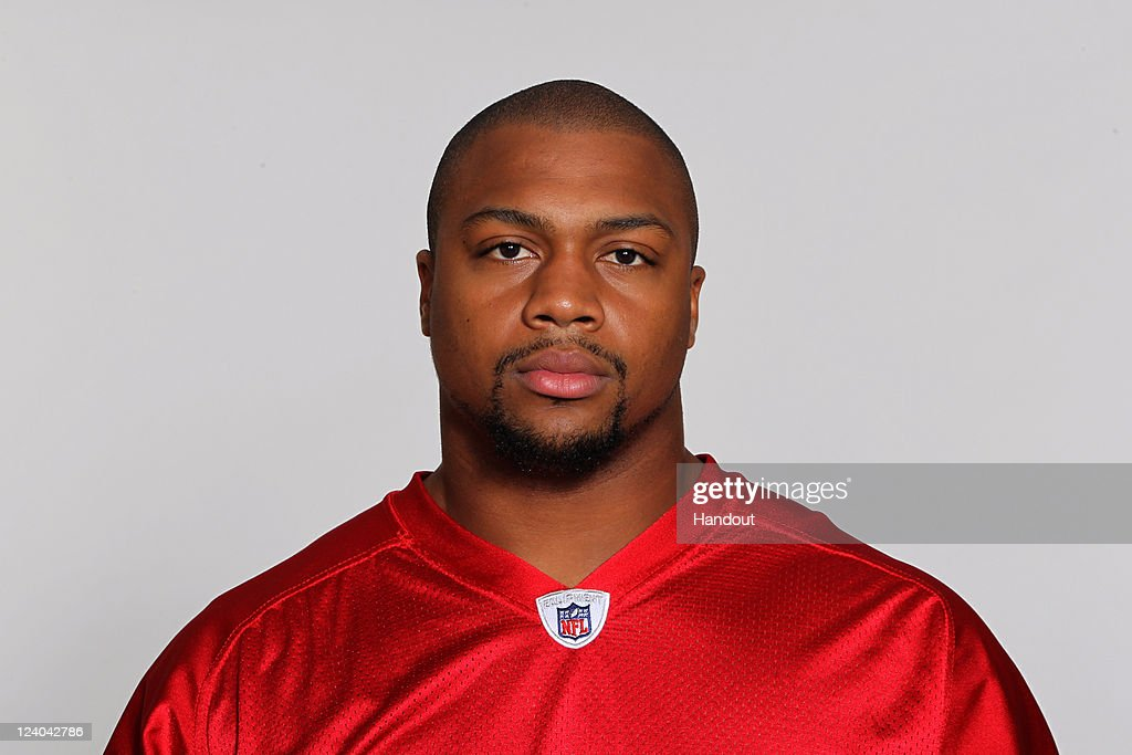 In this handout image provided by the NFL, Cliff Matthews of the Atlanta Falcons poses for his NFL headshot circa 2011 in Flowery Branch, Georgia.