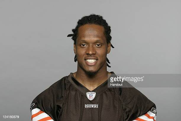 In this handout image provided by the NFL Coye Francies of the Cleveland Browns poses for his NFL headshot circa 2011 in Berea Ohio