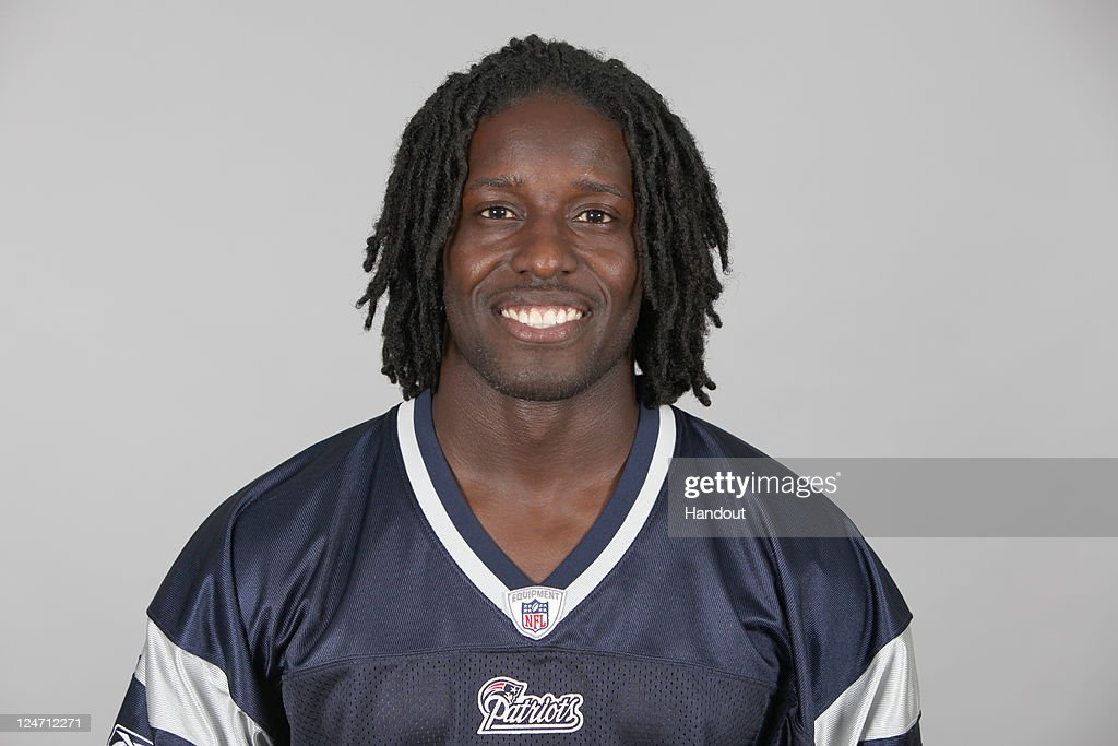In this handout image provided by the NFL, <a gi-track='captionPersonalityLinkClicked' href=/galleries/search?phrase=Deion+Branch&family=editorial&specificpeople=206261 ng-click='$event.stopPropagation()'>Deion Branch</a> of the New England Patriots poses for his NFL headshot circa 2011 in Foxborough, Massachusetts.