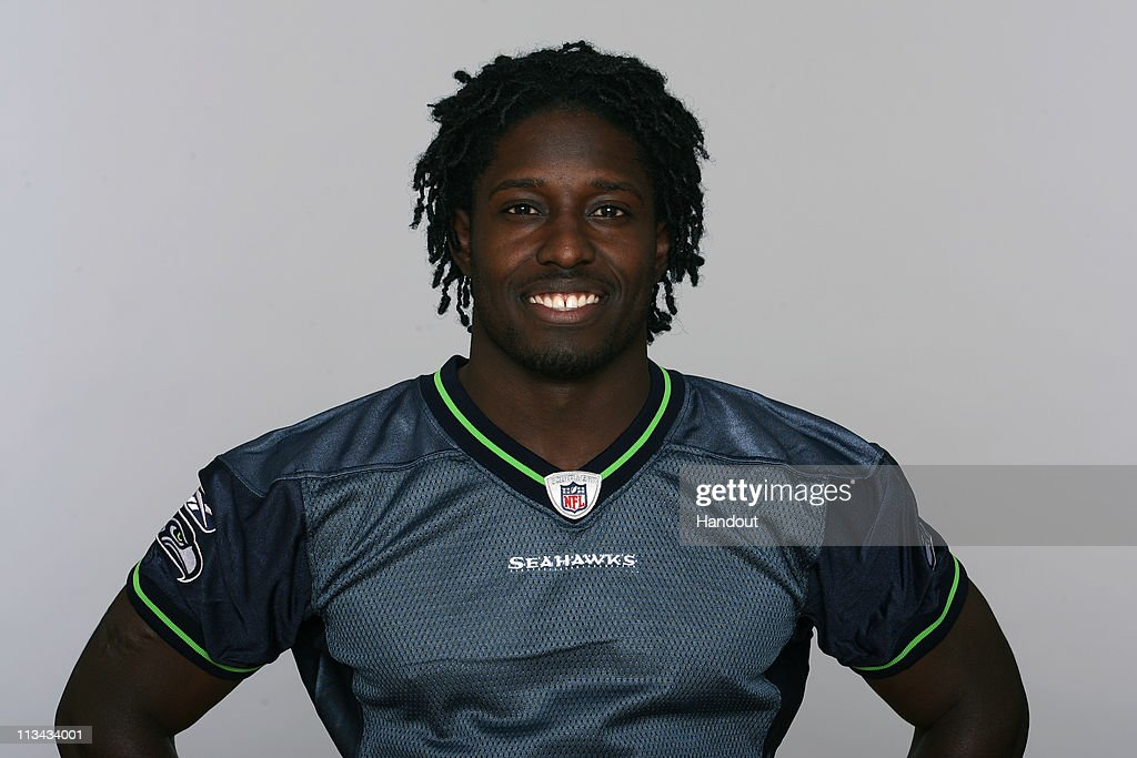 In this handout image provided by the NFL, <a gi-track='captionPersonalityLinkClicked' href=/galleries/search?phrase=Deion+Branch&family=editorial&specificpeople=206261 ng-click='$event.stopPropagation()'>Deion Branch</a> of the Seattle Seahawks poses for his 2010 NFL headshot circa 2010 in Renton, Washington.