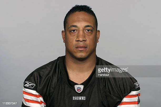 In this handout image provided by the NFL Eric Barton of the Cleveland Browns poses for his 2010 NFL headshot circa 2010 in Berea Ohio