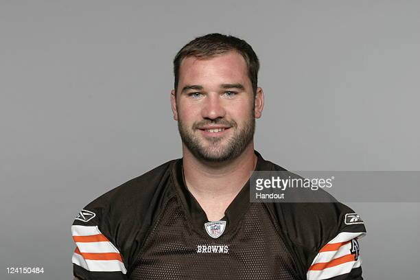 In this handout image provided by the NFL Eric Steinbach of the Cleveland Browns poses for his NFL headshot circa 2011 in Berea Ohio