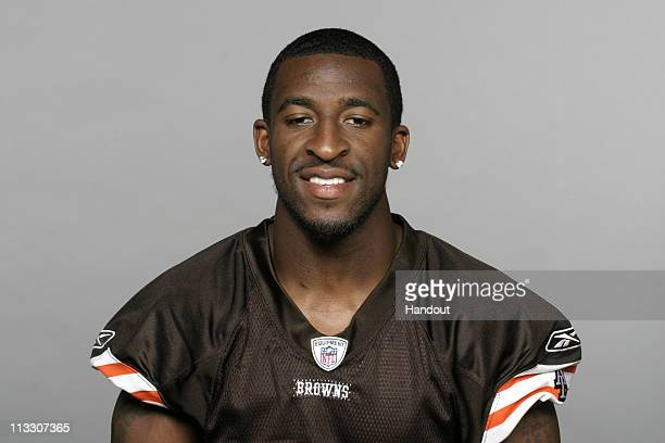 In this handout image provided by the NFL Eric Wright of the Cleveland Browns poses for his 2010 NFL headshot circa 2010 in Berea Ohio