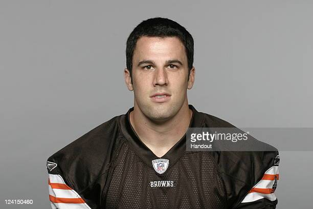 In this handout image provided by the NFL Evan Moore of the Cleveland Browns poses for his NFL headshot circa 2011 in Berea Ohio