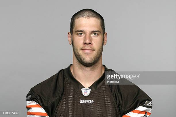 In this handout image provided by the NFL Greg Estandia of the Cleveland Browns poses for his 2010 NFL headshot circa 2010 in Berea Ohio
