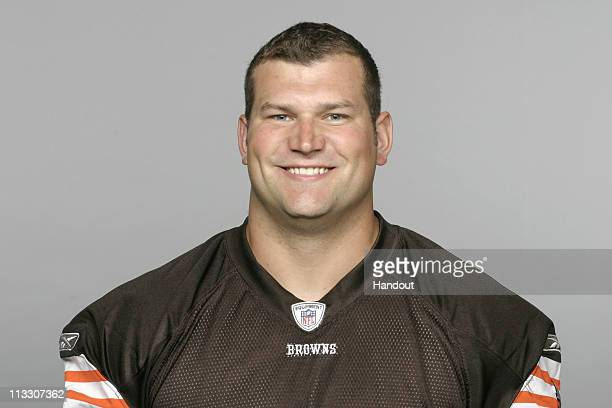 In this handout image provided by the NFL Joe Thomas of the Cleveland Browns poses for his 2010 NFL headshot circa 2010 in Berea Ohio