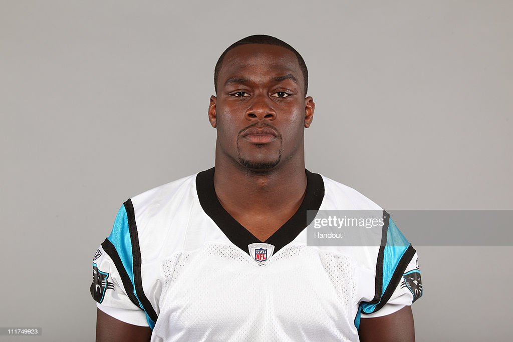 In this handout image provided by the NFL, Jon Beason of the Carolina Panthers poses for his 2010 NFL headshot circa 2010 in Charlotte, North Carolina.
