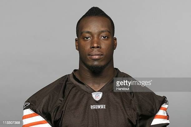 In this handout image provided by the NFL Marcus Benard of the Cleveland Browns poses for his 2010 NFL headshot circa 2010 in Berea Ohio