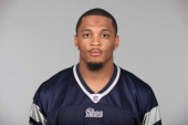 In this handout image provided by the NFL Patrick Chung of the New England Patriots poses for his 2010 NFL headshot circa 2010 in Foxborough...
