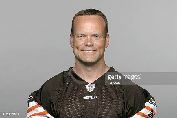 In this handout image provided by the NFL Phil Dawson of the Cleveland Browns poses for his 2010 NFL headshot circa 2010 in Berea Ohio