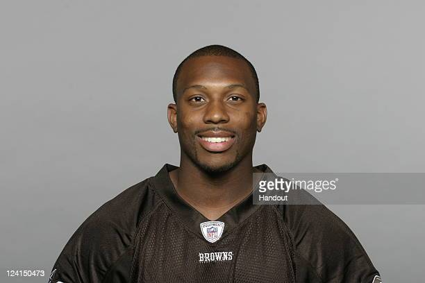 In this handout image provided by the NFL Ramzee Robinson of the Cleveland Browns poses for his NFL headshot circa 2011 in Berea Ohio