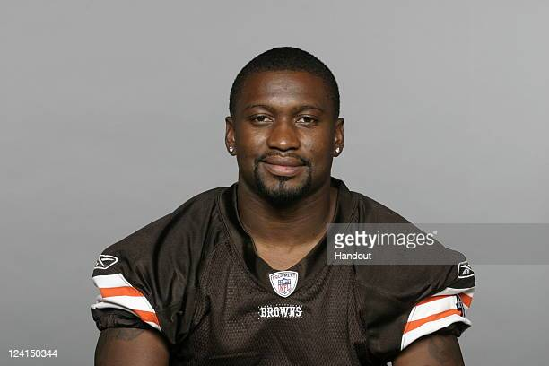 In this handout image provided by the NFL Sheldon Brown of the Cleveland Browns poses for his NFL headshot circa 2011 in Berea Ohio