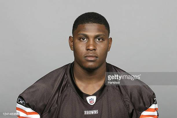 In this handout image provided by the NFL Sidney Tarver of the Cleveland Browns poses for his NFL headshot circa 2011 in Berea Ohio