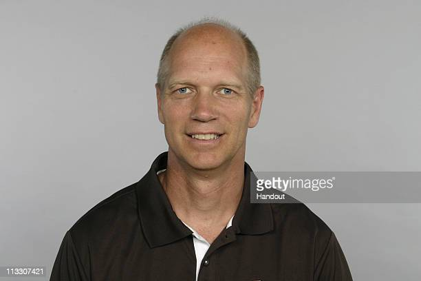 In this handout image provided by the NFL Steve Hagen of the Cleveland Browns poses for his 2010 NFL headshot circa 2010 in Berea Ohio