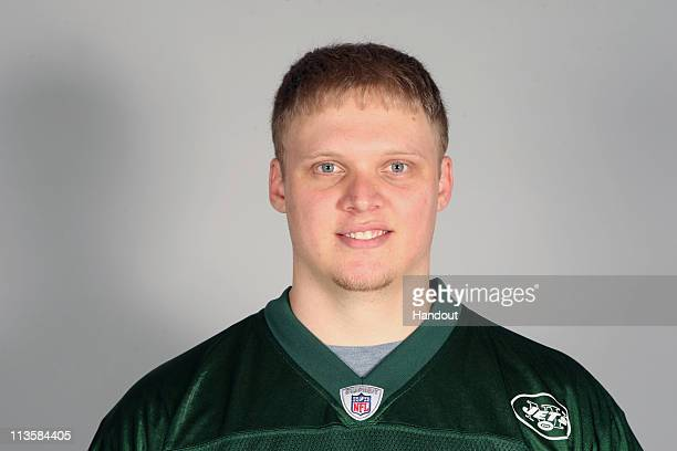 In this handout image provided by the NFL Tanner Purdum of the New York Jets poses for his 2010 NFL headshot circa 2010 in Florham Park New Jersey